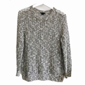 Theory Gray Marled Pointing Rainee Sweater size L